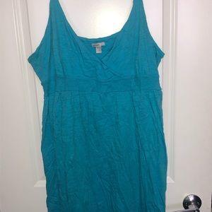 Baby blue flowy cotton dress